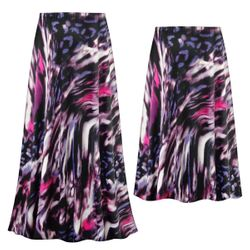 NEW! Customizable Plus Size Purple Daze Slinky Print Skirts - Sizes L XL 1x 2x 3x 4x 5x 6x 7x 8x 9x