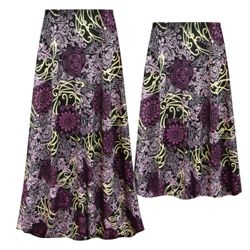 NEW! Customizable Plus Size Purple Medallion Slinky Print Skirts - Sizes Lg XL 1x 2x 3x 4x 5x 6x 7x 8x 9x