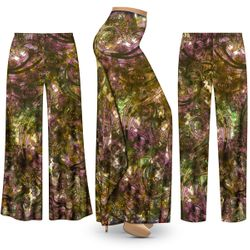 SALE! Customizable Plus Size Purple Paisley SLINKY Print Palazzo Pants - Tapered Pants - Sizes L XL 1x 2x 3x 4x 5x 6x 7x 8x 9x