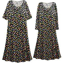 NEW! Customizable Plus Size Rainbow Dots Print Sleep Gown - Muumuu - Moo Moo Dress 0x 1x 2x 3x 4x 5x 6x 7x 8x 9x