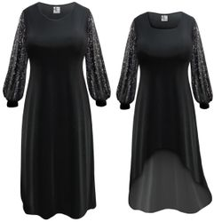 NEW! Customizable Plus Size Semi-Sheer Damask Print Sleeves Dresses Sizes Lg XL 0x 1x 2x 3x 4x 5x 6x 7x 8x 9x