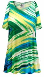 SOLD OUT! SALE! Customizable Plus Size Sky Palms Slinky Print Short or Long Sleeve Shirts - Tunics - Tank Tops - Sizes Lg XL 1x 2x 3x 4x 5x 6x 7x 8x 9x