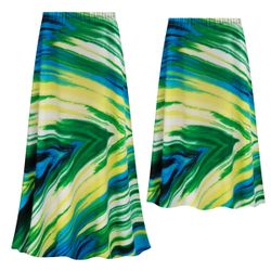 NEW! Customizable Plus Size Sky Palms Slinky Print Skirts - Sizes Lg XL 1x 2x 3x 4x 5x 6x 7x 8x 9x
