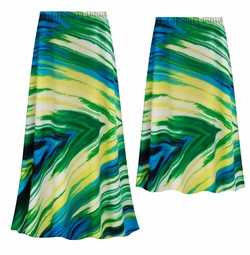 SOLD OUT! NEW! Customizable Plus Size Sky Palms Slinky Print Skirts - Sizes Lg XL 1x 2x 3x 4x 5x 6x 7x 8x 9x
