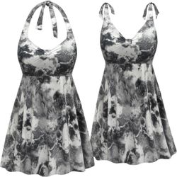8609a9905d983 NEW! Customizable Plus Size Smoking Hot Print Halter or Shoulder Strap 2pc  Swimsuit/SwimDress