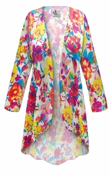 SALE! Customizable Plus Size Spring Flowers Slinky Print Jackets & Dusters - Sizes Lg XL 1x 2x 3x 4x 5x 6x 7x 8x 9x