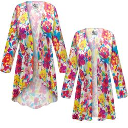 NEW! Customizable Plus Size Spring Flowers Slinky Print Jackets & Dusters - Sizes Lg XL 1x 2x 3x 4x 5x 6x 7x 8x 9x
