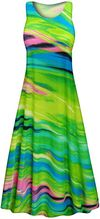 CLEARANCE! Plus Size Spring Song Slinky Print Short or Long Sleeve Dresses & Tanks 6x