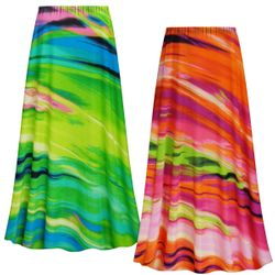 NEW! Customizable Plus Size Spring Song Slinky Print Skirts - Sizes L XL 1x 2x 3x 4x 5x 6x 7x 8x 9x