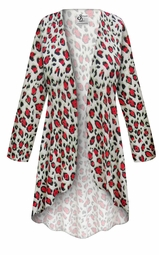 NEW! Customizable Plus Size Strawberry Animal Slinky Print Jackets & Dusters - Sizes Lg XL 1x 2x 3x 4x 5x 6x 7x 8x 9x