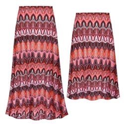 NEW! Customizable Plus Size Swirl Slinky Print Skirts - Sizes Lg XL 1x 2x 3x 4x 5x 6x 7x 8x 9x
