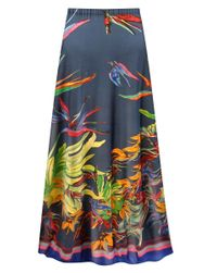 Customizable Plus Size Tasia Tropical Print Slinky Skirt - Sizes L XL 1x 2x 3x 4x 5x 6x 7x 8x 9x