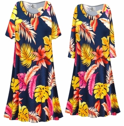 SOLD OUT! Customizable Plus Size Tropical Print Sleep Gown - Muumuu - Moo Moo Dress 0x 1x 2x 3x 4x 5x 6x 7x 8x 9x