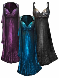 SOLD OUT! NEW! Customizable 2 Piece Metallic Vertical Lines in Fuchsia, Silver, or Blue & Black Slinky Print 2 Piece Plus Size SuperSize Princess Seam Dress Set 0x 1x 2x 3x 4x 5x 6x 7x 8x 9x