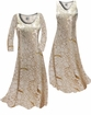 SOLD OUT! Customizable Beige & Gold Metallic Shiny Slinky Print Plus Size & Supersize Standard or Cascading A-Line or Princess Cut Dresses & Shirts, Jackets, Pants, Palazzo's or Skirts Lg to 9x