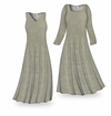 SOLD OUT! Customizable Desert Sands Taupe With Glittery Dots Slinky Print Plus Size & Supersize Standard or Cascading A-Line or Princess Cut Dresses & Shirts, Jackets, Pants, Palazzo's or Skirts Lg to 9x