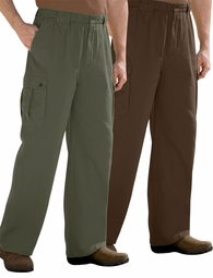 SOLD OUT! Tall Elastic Waist Espresso Brown, Stonewash Blue or Olive Green Knockarounds Cargo Plus Size Pants 8x