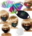 NEW! Stylish Pretty Reusable Cloth Face Masks in Black, White or Tie Dye & Add Sparkly Rhinestones! Ships Fast From USA!