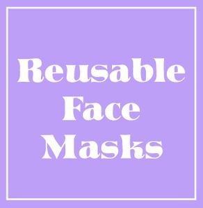 NEW! Stylish Pretty Reusable 2-Layer Cotton Face Masks in Black, White or Tie Dye & Add Sparkly Rhinestones! Ships Fast From USA!