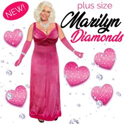 NEW! Gentlemen Prefer Marilyn Plus Size Costume XL 0x 1x 2x 3x 4x 5x 6x 7x 8x