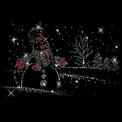 SALE! Snowman Rhinestud Rhinestones Plus Size & Supersize T-Shirts S M L XL 2x 3x 4x 5x 6x 7x 8x 9x (All Colors)