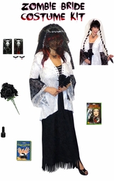 SALE! Ghost Zombie Bride 2-Piece Jacket & Dress Costume - Plus Size & Supersize Lg XL 1x 2x 3x 4x 5x 6x 7x 8x 9x