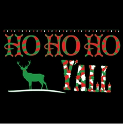 SALE! Ho Ho Ho Y'All Plus Size & Supersize Christmas T-Shirts Small to 8x (All Colors)