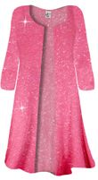 SOLD OUT! Hot Pink Shiny Sparkly Plus Size Slinky Duster Jacket 1x 2x 3x 4x Supersize 5x 6x 7x 8x 9x