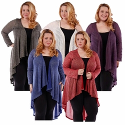 SALE! Black Sparkle Glimmer! Knitted Sweater Coverup Cardigan Plus Size Jackets 4x
