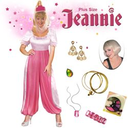 SALE! Jeannie the Genie Plus Size Supersize Halloween Costume Lg XL 1x 2x 3x 4x 5x 6x 7x 8x 9x