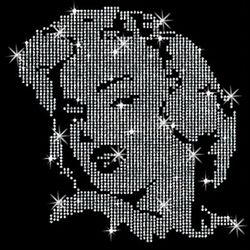 SALE! Marilyn Monroe Portrait Sparkly Rhinestud Rhinestones Plus Size & Supersize T-Shirts S M L XL 2x 3x 4x 5x 6x 7x 8x 9x (All Colors)