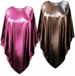 SALE! Metallic Pink or Copper Plus Size and Supersize Poncho