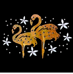 SALE! Metallic Mini Sparkly Flamingo Pair Plus Size & Supersize T-Shirts S M L XL 2x 3x 4x 5x 6x 7x 8x