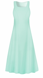 SALE! Plus Size Creamy Mint Dress, Customizable Poly Cotton Princess Cut Supersize Dress 0x 1x 2x 3x 4x 5x 6x 7x 8x 9x