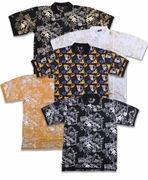 CLEARANCE! Mustard Jazzy Metallic or Multicolor Hats Print Plus Size Short Sleeve Polo Shirts 4x