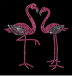 SALE! Pair of Pink Flamingos Sparkly Rhinestud Rhinestones Plus Size & Supersize T-Shirts S M L XL 2x 3x 4x 5x 6x 7x 8x 9x (All Colors)