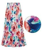 CLEARANCE! Plus Size Floral Slinky Print Skirts 2x