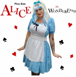 NEW! Plus Size Alice In Wonderland Halloween Costume 1x 2x 3x 4x 5x 6x 7x 8x 9x 10x