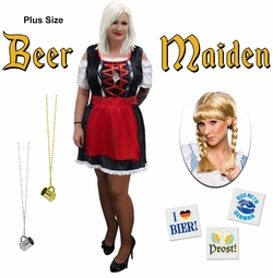 NEW! Plus Size Beer Maiden Halloween Costume  Lg XL 1x 2x 3x 4x 5x 6x 7x 8x 9x
