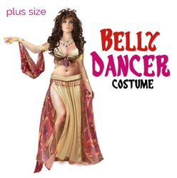 NEW! Plus Size Belly Dancer Costume Kit Lg XL 0x 1x 2x 3x 4x 5x 6x 7x 8x 9