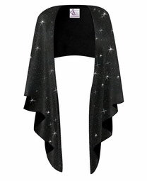 SALE! Plus Size Black Glitter Slinky Wrap Shawl!