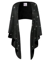NEW! Plus Size Black Glitter Slinky Wrap Shawl!