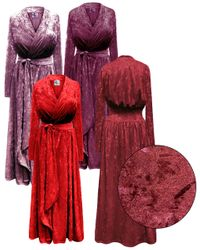 NEW! Plus Size Mauve, Berry, Ruby, and Burgundy Ice Velvet Robe with Attached Belt 0x 1x 2x 3x 4x 5x 6x 7x 8x 9x