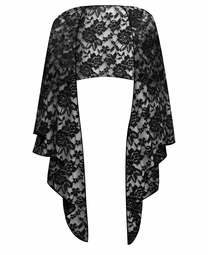 SALE! Plus Size Black Lace Wrap Shawl!
