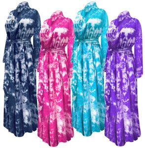 NEW! Plus Size  Black Navy Turquoise Pink Green Purple or Red Marble Tie Dye Robe with Attached Belt Customizable 0x 1x 2x 3x 4x 5x 6x 7x 8x 9x