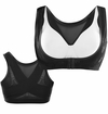 SOLD OUT! Plus Size Black or White Front Hook Wireless Posture Brace Size 30/32 34/36 - 46/48/50 Bra Size 4x 5x