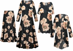 Plus Size Black & Pink Floral <strong>CRUSH VELVET</strong> Print Dresses Shirts Jackets Pants Palazzo�s & Skirts - Sizes Lg to 9x