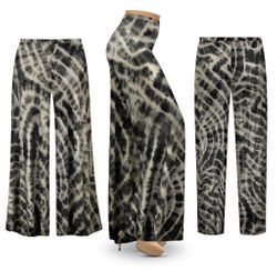 NEW! Plus Size Black Pool Tie Dye Palazzo Pants - Tapered Pants - Customizable L XL 1x 2x 3x 4x 5x 6x 7x 8x 9x