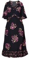 SALE! Plus Size Black Ruffled Floral Maxi Dress Size 3x