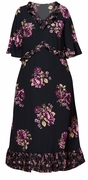 SALE! Plus Size Black Ruffled Floral Maxi Dress Size 2x 3x